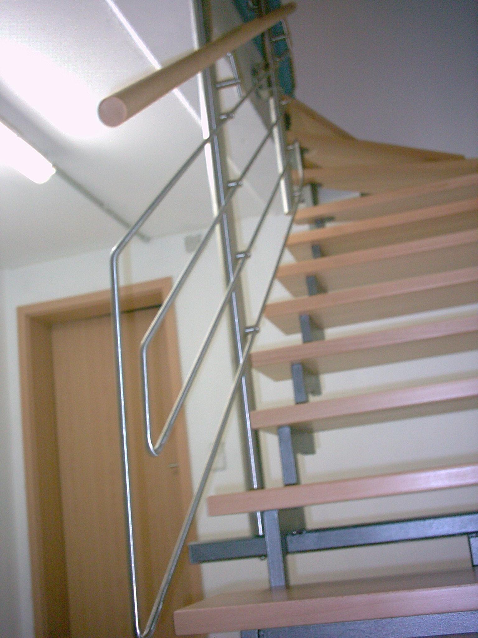 Metallbau Wuppertal Gelander Innen Treppengelander Aus Edelstahl
